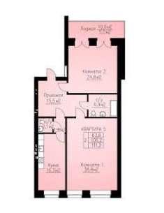 куплю двухкомнатную квартиру в новом доме